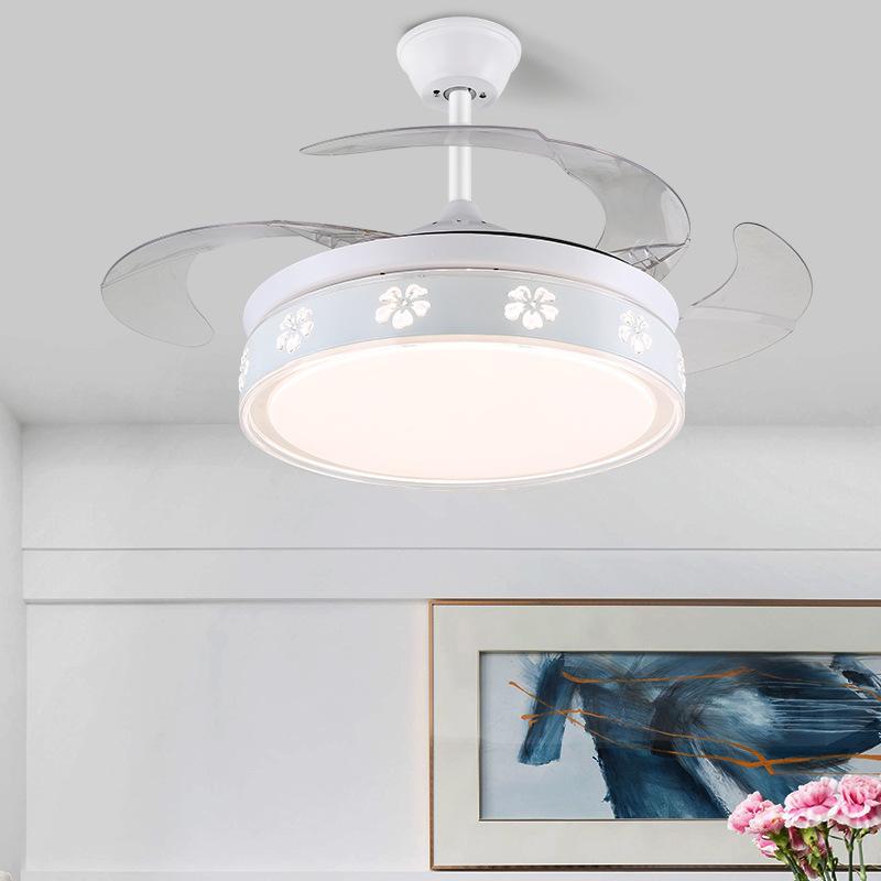 隐形风扇灯吊扇灯静音家用现代简约餐厅一体客厅卧室带电风扇吊灯