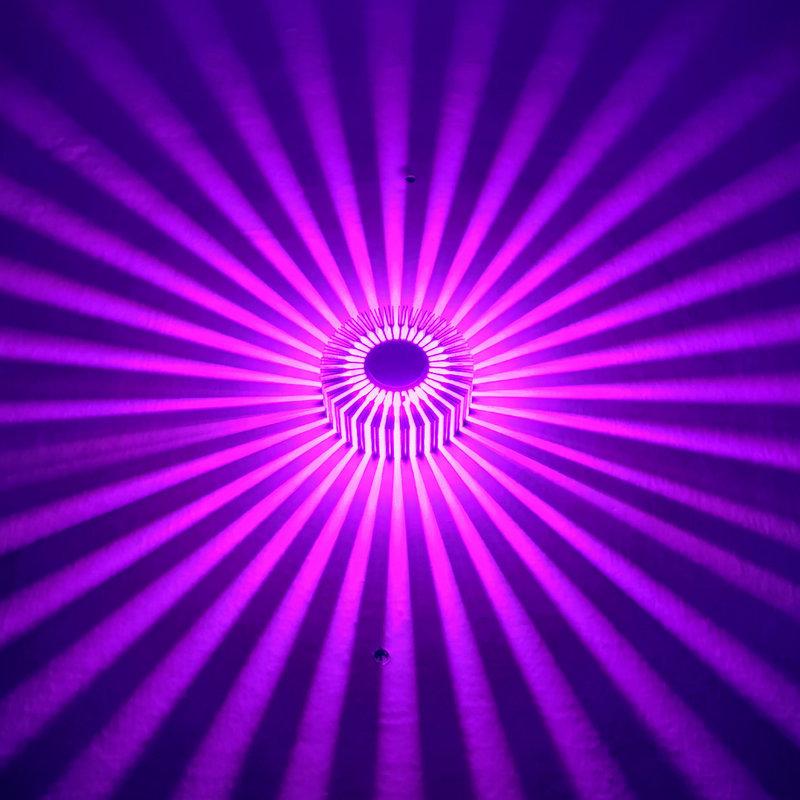 LED过道灯创意壁灯铝材灯太阳花走廊酒吧ktv背景墙装饰七彩造型灯