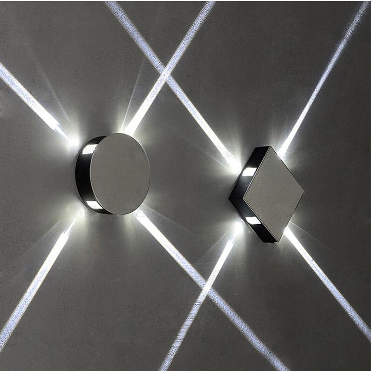 LED十字星光壁灯圆形方形创意造型灯酒吧网吧ktv会所背景墙装饰灯