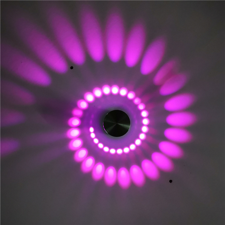 led现代室内壁灯创意螺旋灯圆形1w3w会所KTV走廊过道背景墙装饰灯