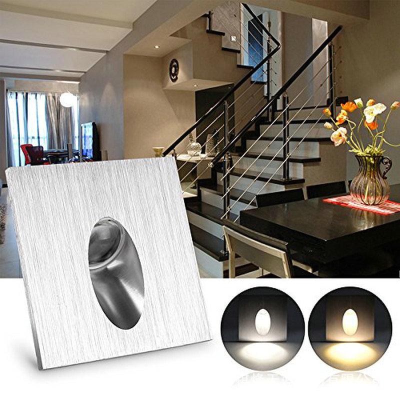 LED方形铝材壁灯墙脚地脚灯墙角灯酒吧楼梯走廊过道装饰灯1w3w