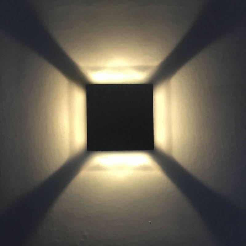 LED超薄方形壁灯四面出光墙脚灯1w3w酒吧ktv走廊过道背景墙装饰灯