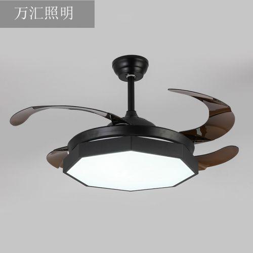万汇欧式风扇灯 一体客厅现代简约餐厅卧室隐形风扇吊灯 一件代发
