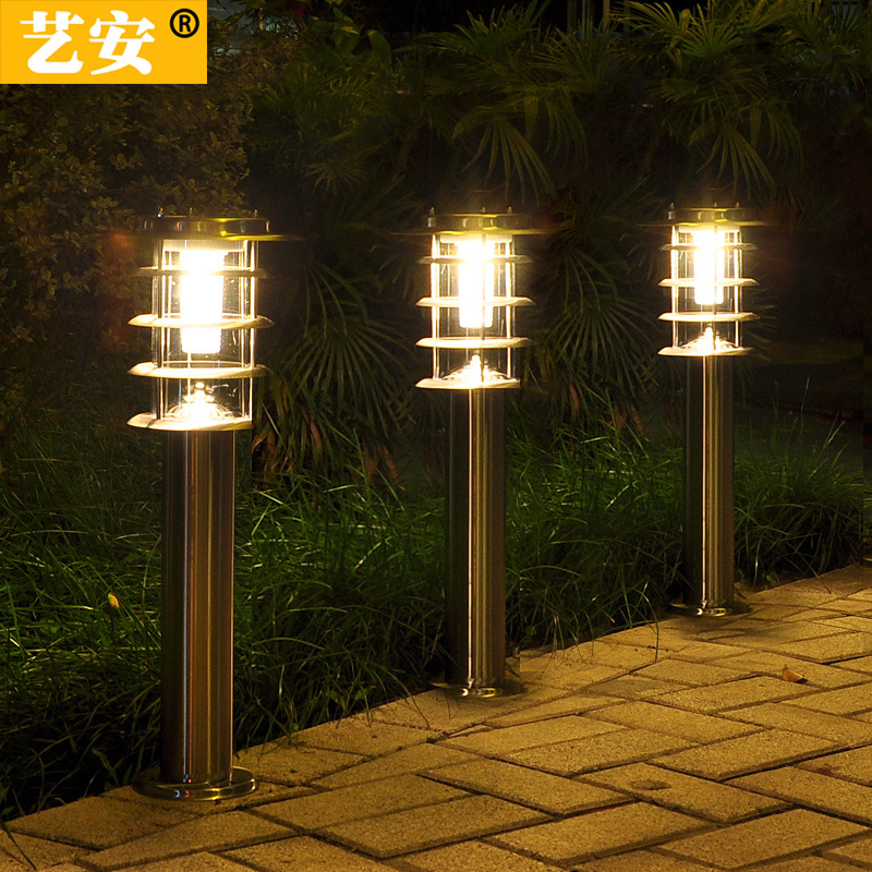 太阳能不锈钢草坪灯 插地花园庭院灯 户外防水地插led别墅草地灯