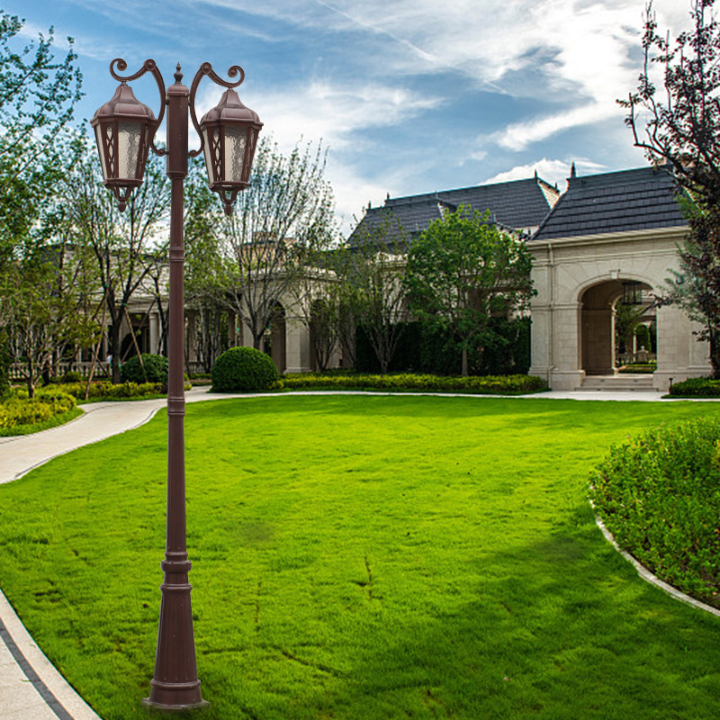 景观灯户外复古庭院小区led高杆花园防水户外灯室外欧式草坪路灯