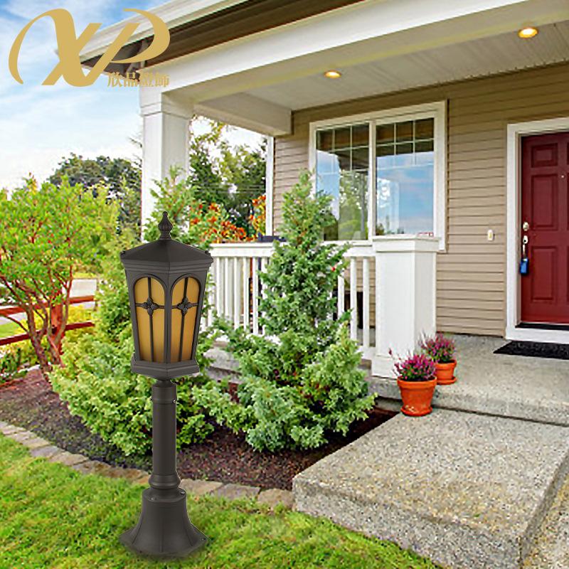 欧式户外照明灯具防雨水过道灯铝材落地灯LED小区花园别墅草坪灯