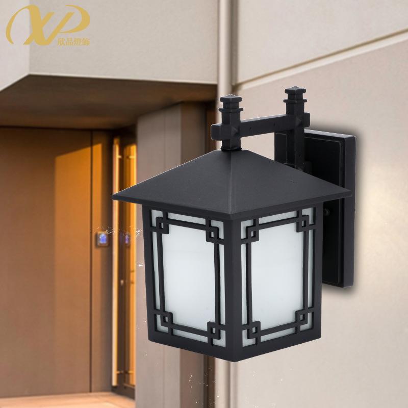 户外壁灯防水庭院灯新中式外墙方形大门口复古过道围墙室外壁灯