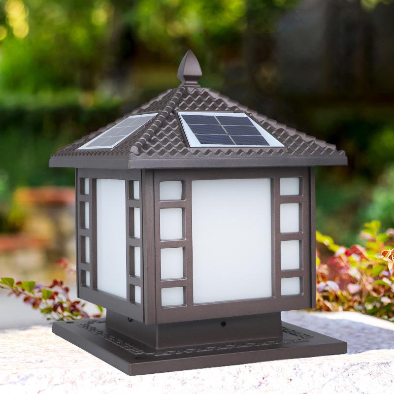 新款太阳能围墙灯户外柱头灯小区别墅欧式庭院柱灯厂家现货批发