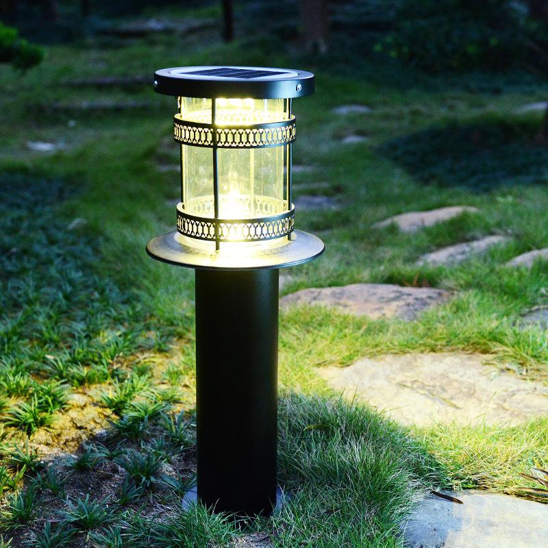 小城堡草坪灯太阳能户外灯防水防锈铝材庭院灯草地小路小区照明
