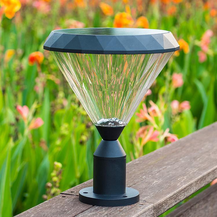 太阳能柱头灯家用户外花园别墅围墙灯柱子灯防水室外庭院灯围墙灯