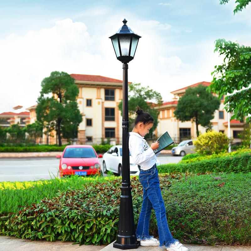 户外小区高杆灯草坪灯别墅灯花园灯景观灯防水路灯欧式复古庭院灯