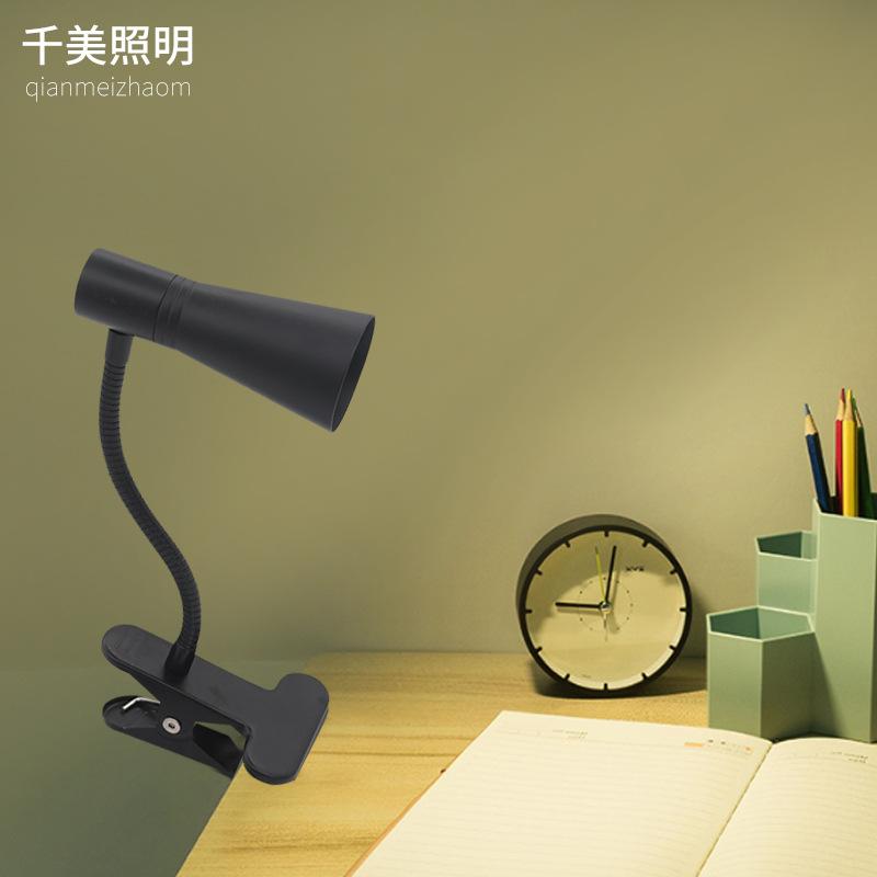 LED触摸式护眼台灯 儿童卧室学生台灯学生工作调光夹子usb台灯