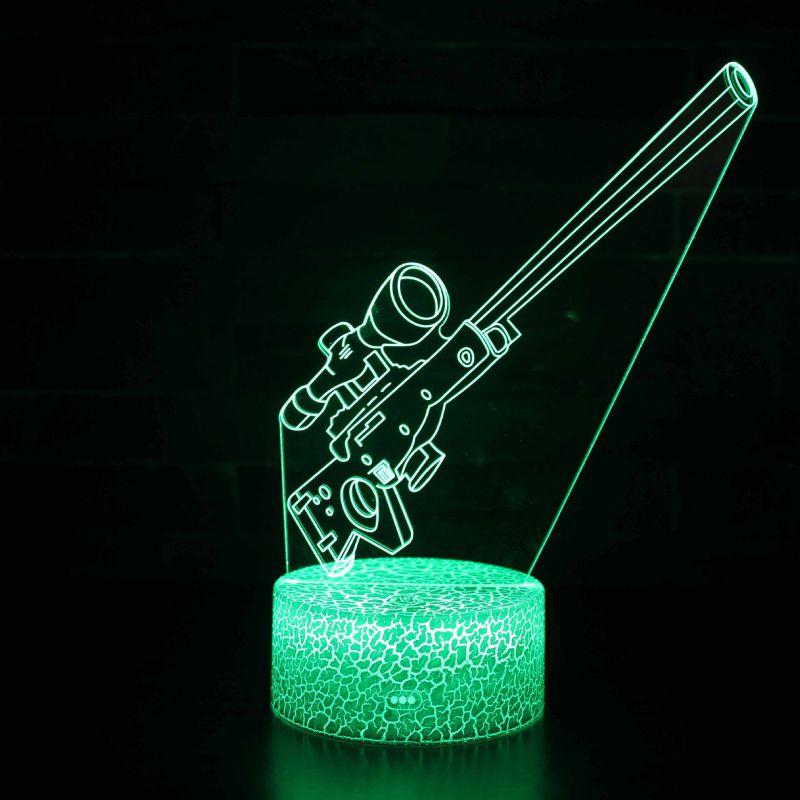 跨境电商热销堡垒之夜3D小夜灯羊驼收割者跳伞七彩台灯创意礼品灯