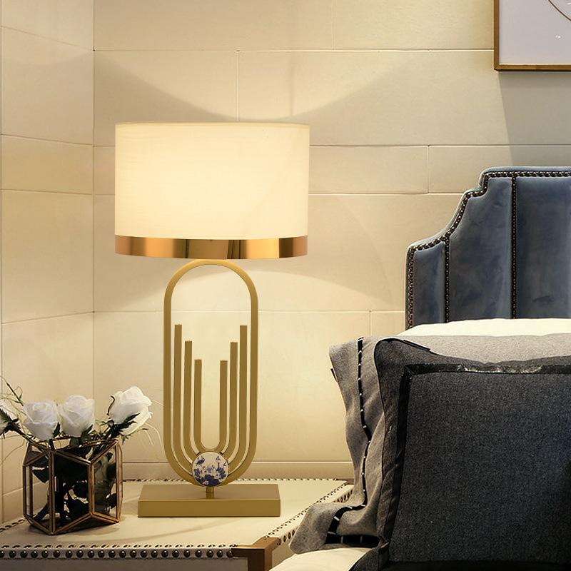 新中式台灯卧室床头灯现代复古禅意客厅创意书房酒店工程装饰台灯