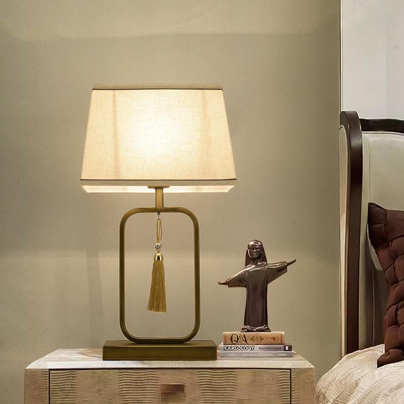 新中式台灯仿古酒店客厅房间装饰台灯古典书房卧室创意床头台灯