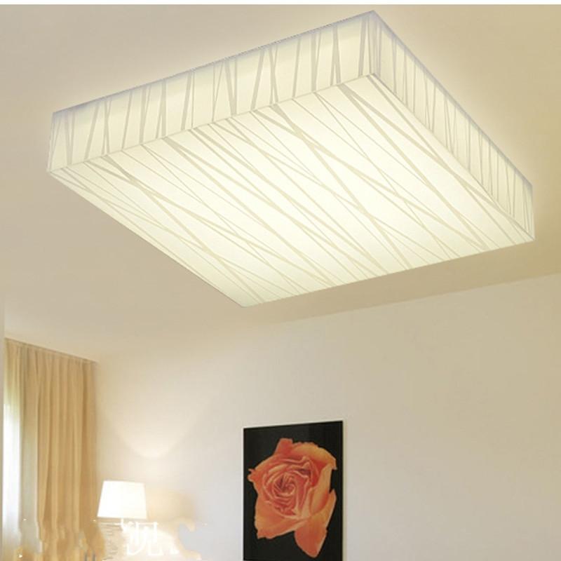 led简约现代客厅方形吸顶灯时尚创意压克力护眼书房卧室吸顶灯