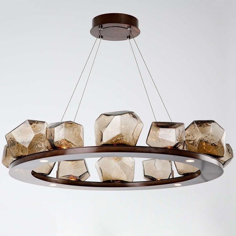 现代简约玻璃艺术客厅吊灯大灯北欧时尚轻奢居家温馨卧室餐厅灯具