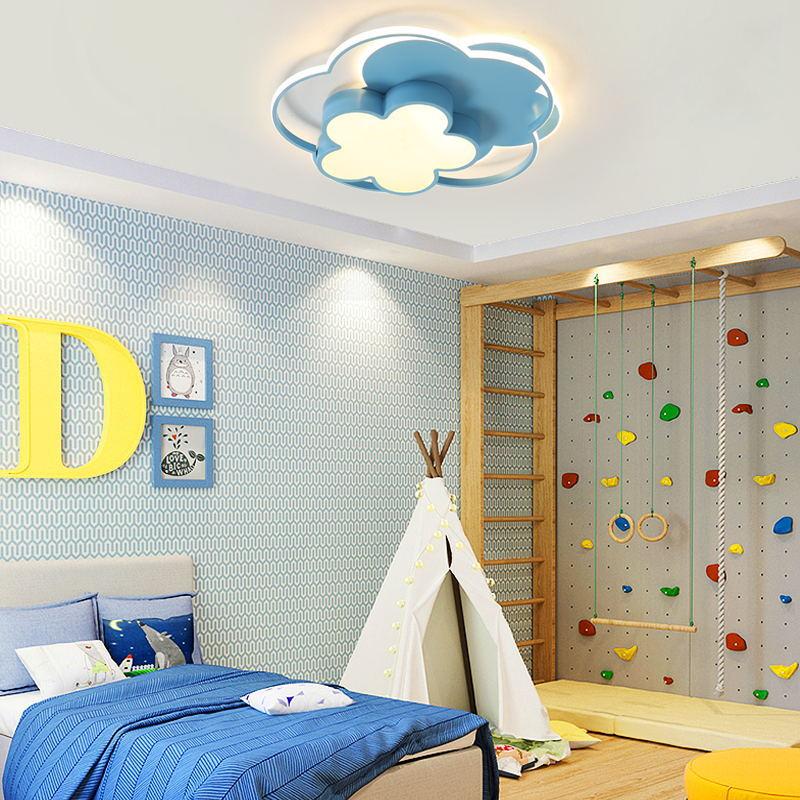 儿童房吸顶灯led护眼调光卧室现代创意卡通女孩房可爱公主房灯具