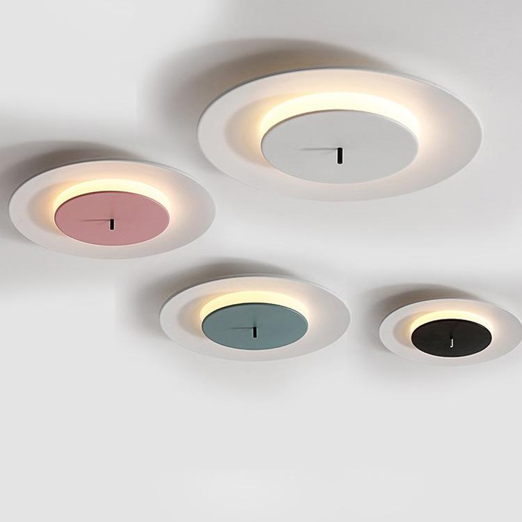 极简主卧室灯圆形吸顶灯具设计师北欧现代简约创意书房阳台过道灯