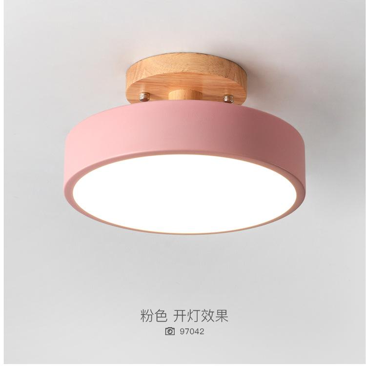 北欧过道灯简约现代马卡龙走廊灯创意圆形衣帽间入户玄关灯具包邮