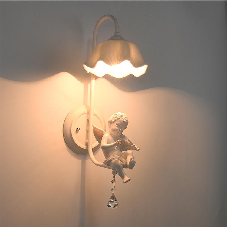 美式壁灯客厅背景墙灯现代简约卧室床头灯具走廊过道创意楼梯壁灯