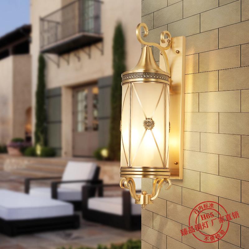 欧式阳台灯美式全铜户外壁灯防水壁灯LED过道门厅酒店别墅壁灯