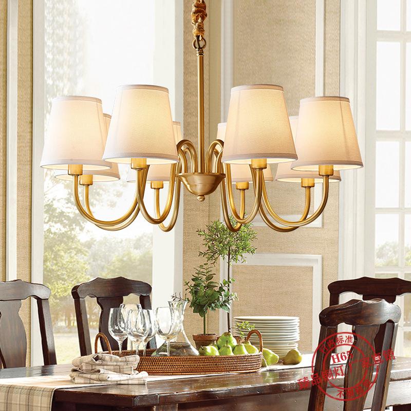 美式吊灯客厅灯简约现代餐厅卧室灯田园乡村复古大气家用大厅灯具