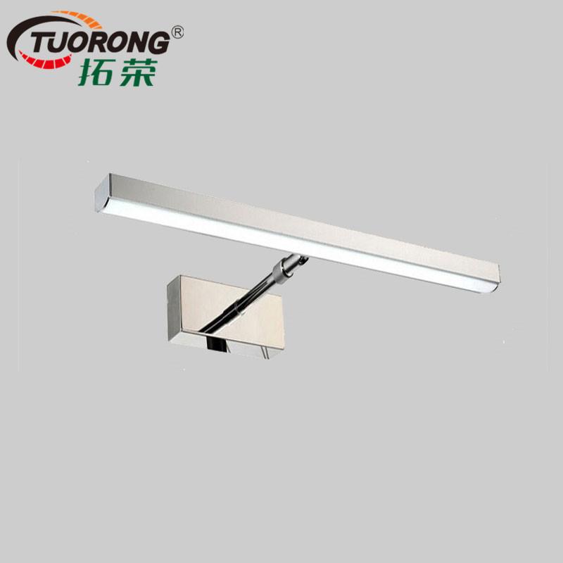 拓荣 LED伸缩镜前灯 6W12W浴室卫生间现代简约防水壁灯 厂家直销
