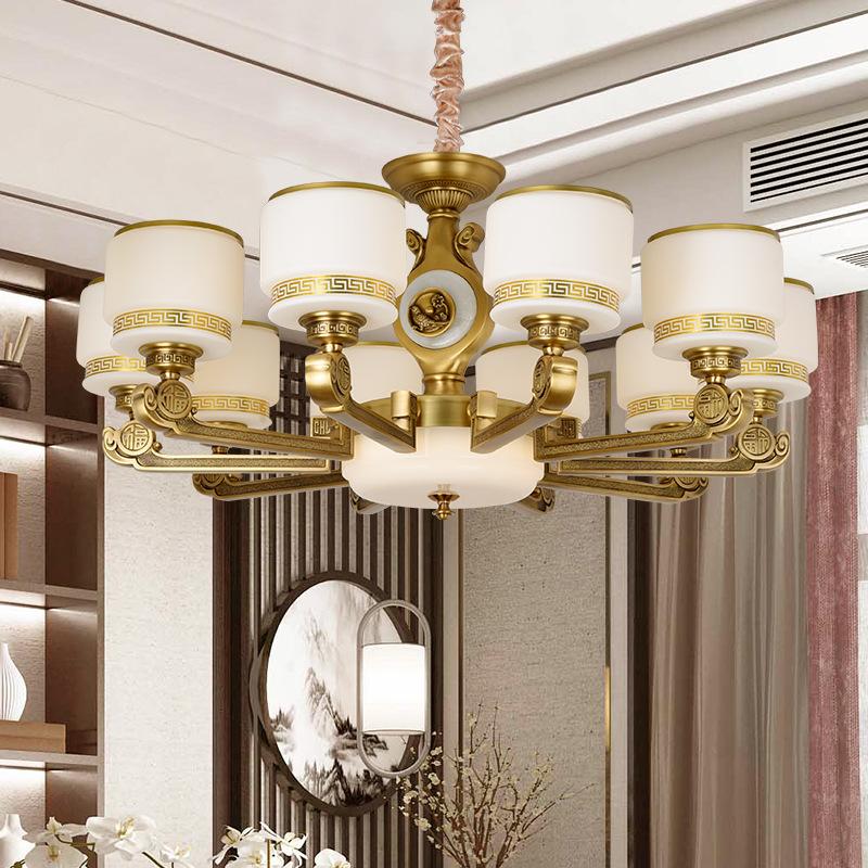 全铜新中式吊灯客厅灯现代简约卧室餐厅灯2020新款禅意中国风灯具