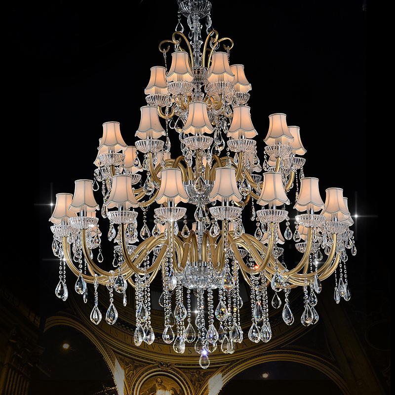 欧式奢华客厅水晶大吊灯餐厅卧室蜡烛大气复式楼楼梯别墅酒店吊灯
