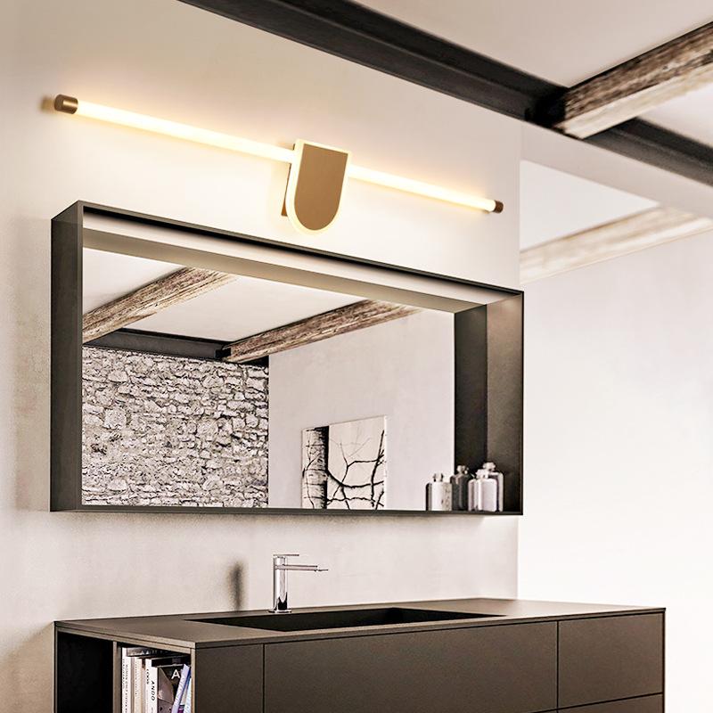 简约现代led镜前灯浴室洗手间镜柜灯饰360度发光灯具北欧卫生间灯