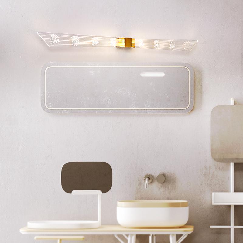 新款简约镜前灯高亮度浴室卫生间壁灯镜子灯后现代简约led镜前灯