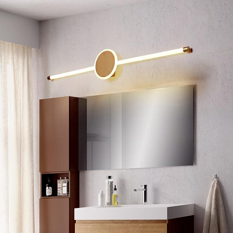 海象360度发光北欧LED镜柜镜前灯 客厅前灯卫生间梳妆台浴室壁灯