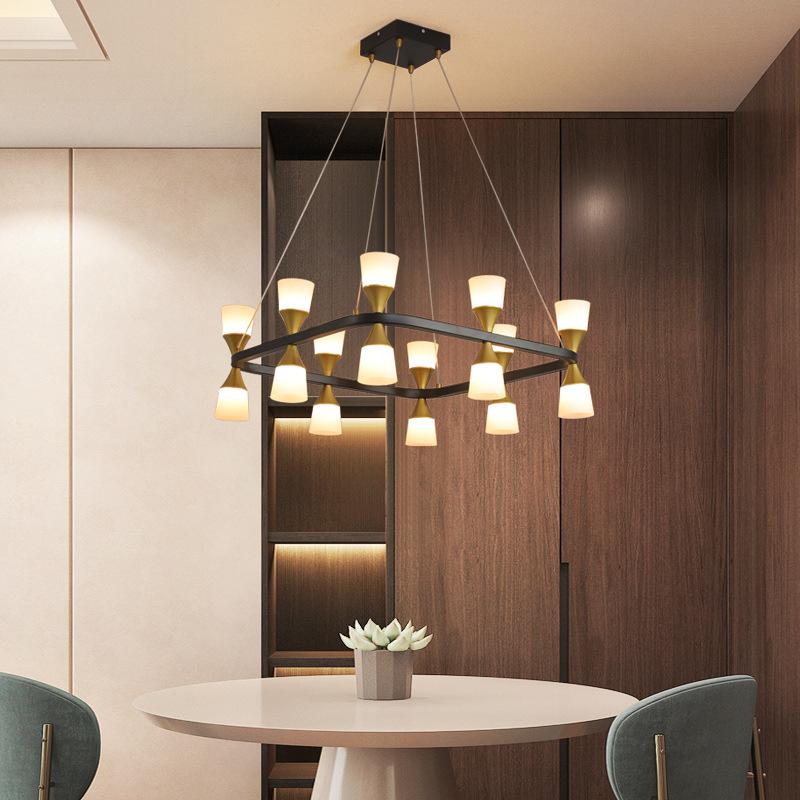 跨境美式吊灯LED楼梯餐吊灯具创意个性后现代简约客厅复古吊灯具