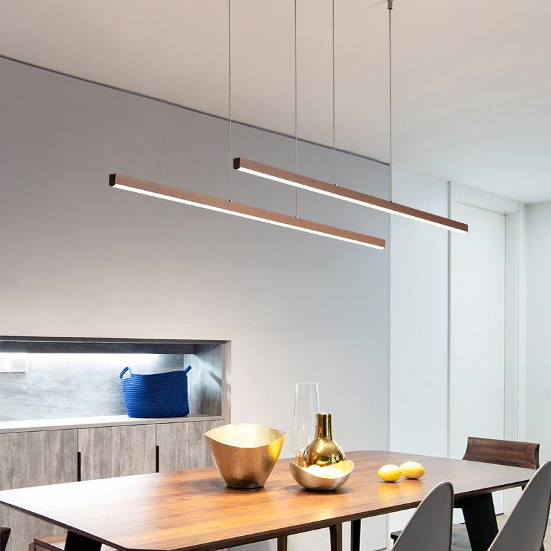 后现代led办公室长条吊线灯创意个性会议室长条工作室简约led灯具