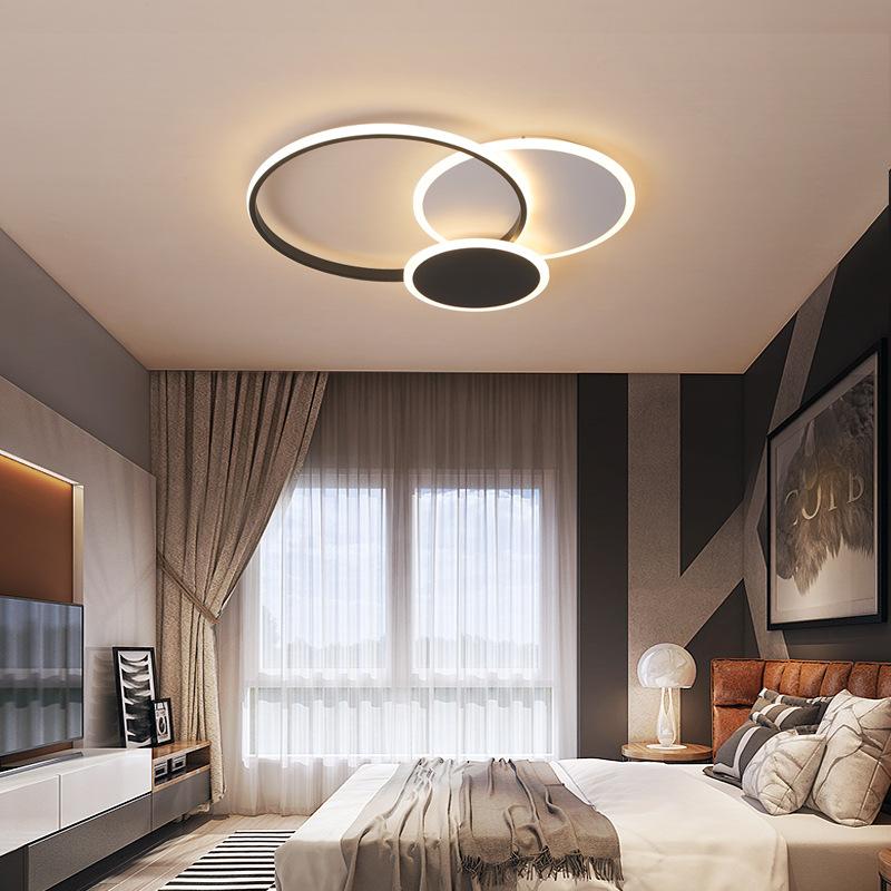 客厅灯简约现代大气圆环形家用led吸顶灯创意北欧网红灯具卧室灯