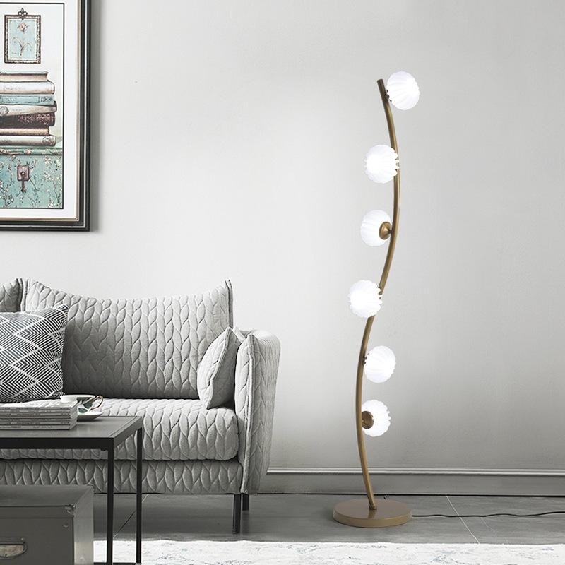 led落地灯简约后现代客厅北欧卧室落地台灯创意酒店欧式立落地灯