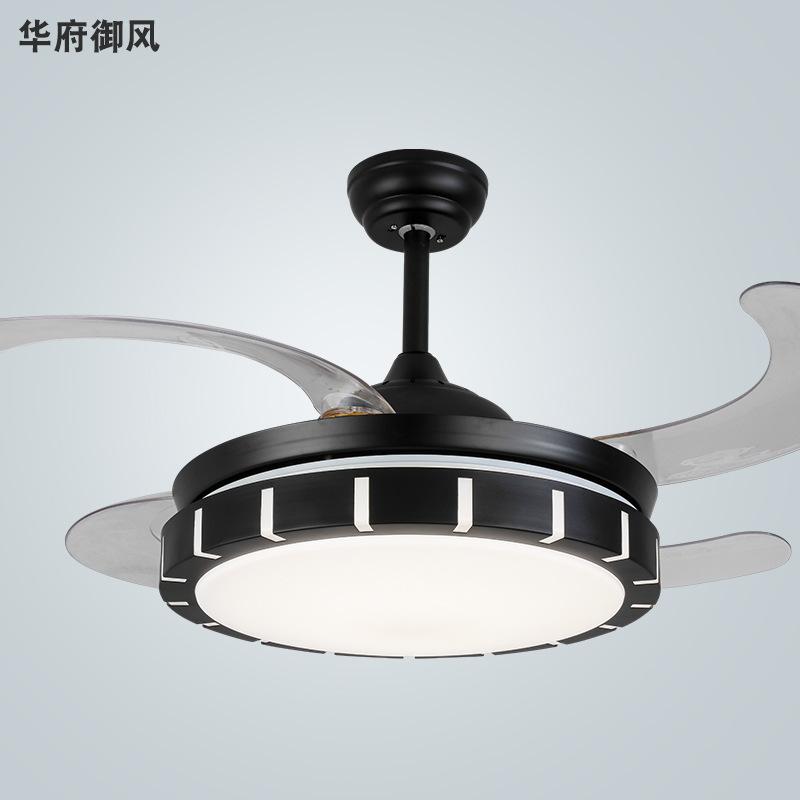 吊扇灯家用带灯扇一体客厅餐厅卧室蓝牙音乐隐形风扇灯电风扇吊灯