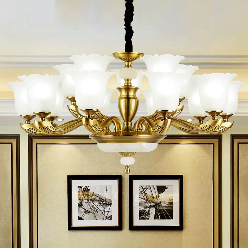 美式吊灯锌合金吊灯全铜客厅灯餐厅灯酒店卧室欧式别墅灯厂家新品