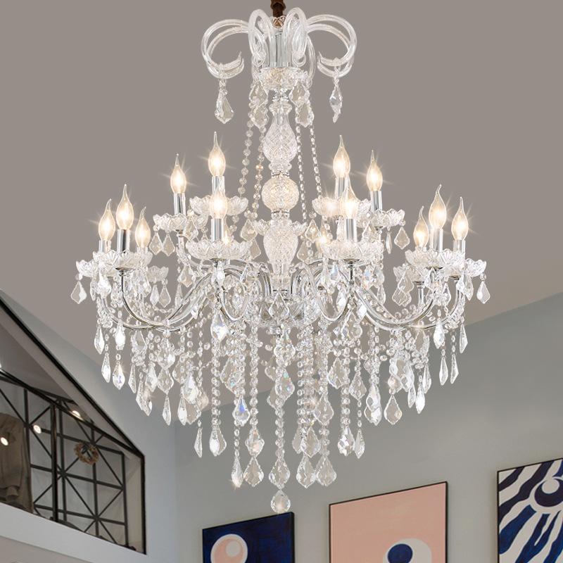 欧式客厅吊灯餐厅卧室灯具创意酒店婚庆装饰蜡烛灯复式楼楼梯吊灯