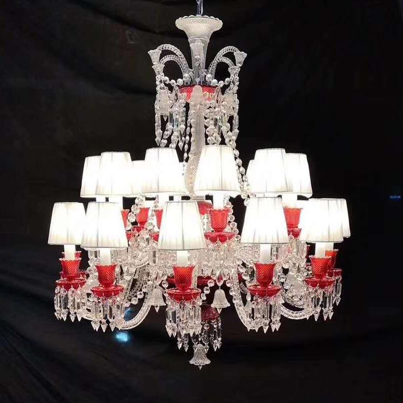 巴卡拉水晶吊灯欧式轻奢大气餐厅卧室吊灯别墅复式楼大厅楼梯灯具