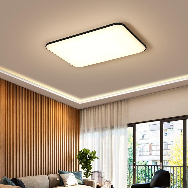 现代室内照明灯具灯饰 铁艺亚克力led吸顶灯 长方形卧室客厅灯