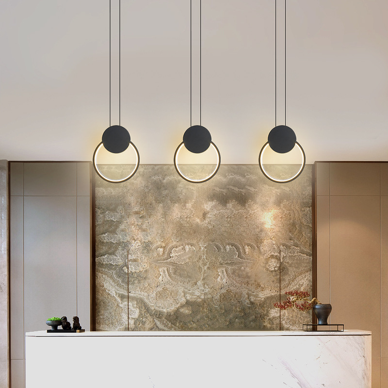 北欧卧室床头led吊灯创意床头灯单头小吊灯吧台餐厅简约现代ins风