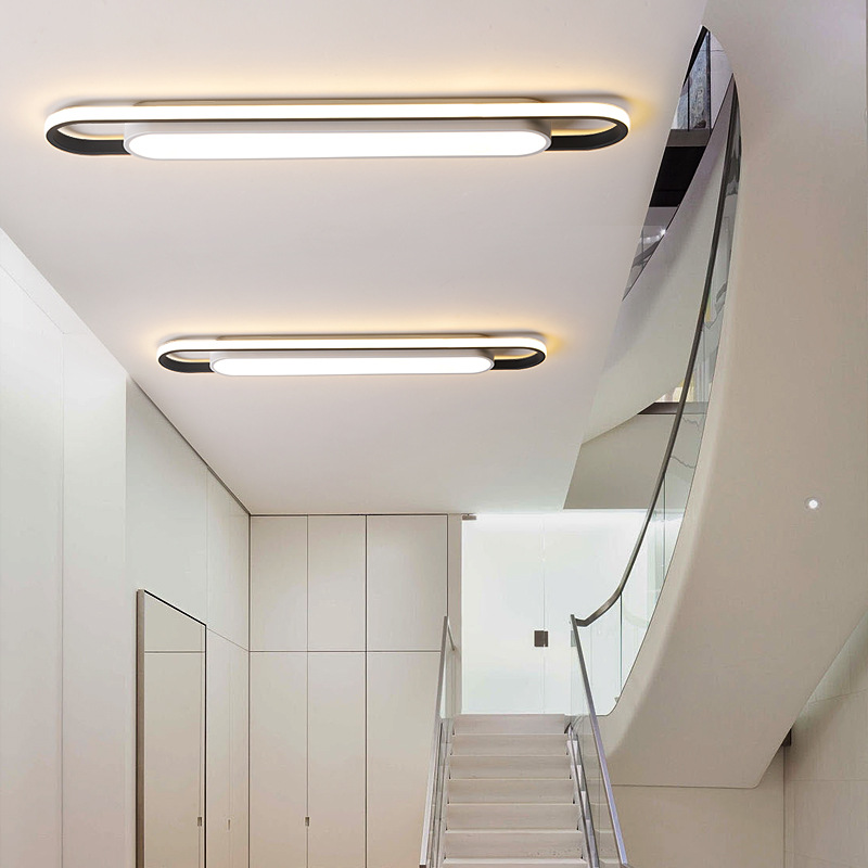 led过道走廊灯玄关阳台长条形吸顶灯 北欧灯具现代简约卧室客厅灯