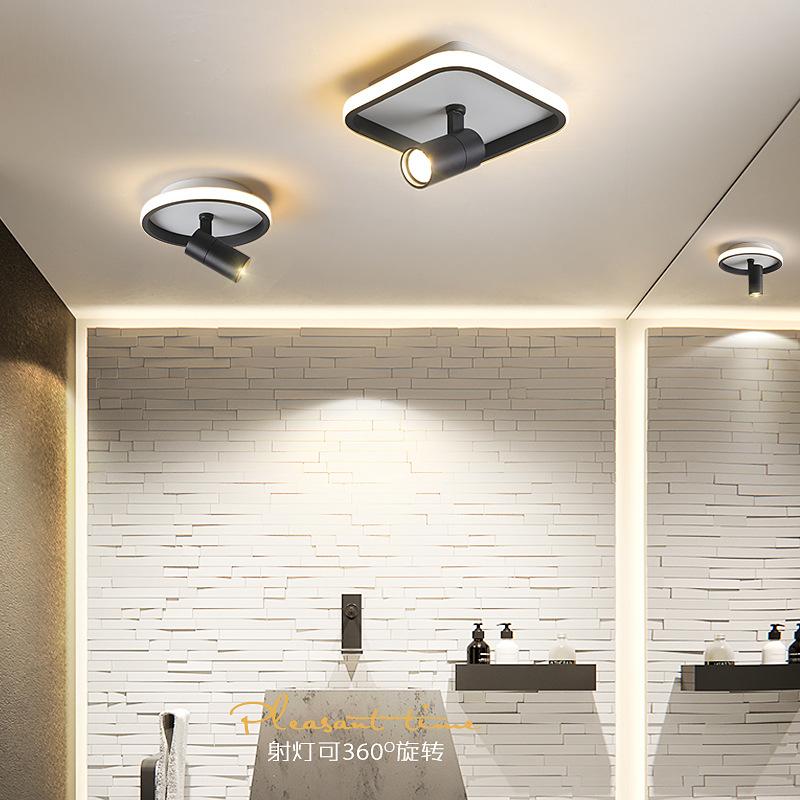 led筒灯简约现代服装店方形吸顶式明装创意酒店走廊灯玄关过道灯
