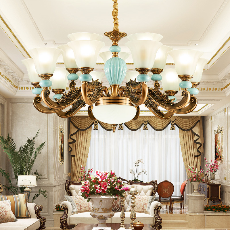 现代简约中式LED吊灯 家居客厅卧室书房餐厅吊灯锌合金个性创意灯