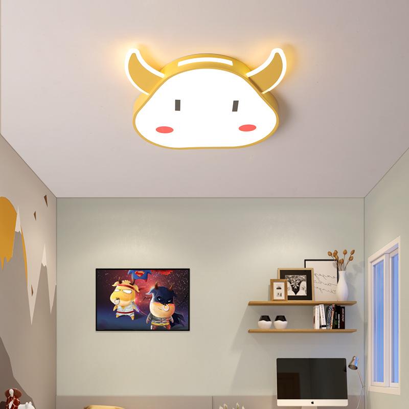 儿童房灯牛牛简约现代幼儿园吸顶灯创意个性小孩卡通可爱房间灯具
