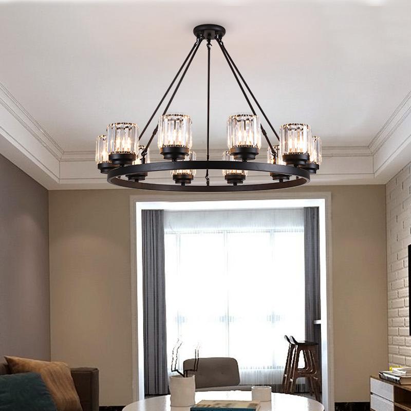 北欧吊灯客厅灯具卧室书房餐厅灯创新大气轻奢后现代简约水晶吊灯