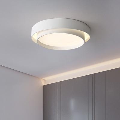 北欧吸顶灯卧室灯简约现代圆形led客厅灯家用极简灯具书房间灯饰