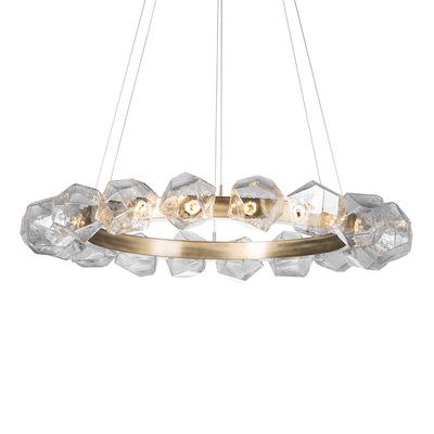 北欧简约玻璃客厅圆形吊灯后现代设计师样板间卧室书房艺术吊灯